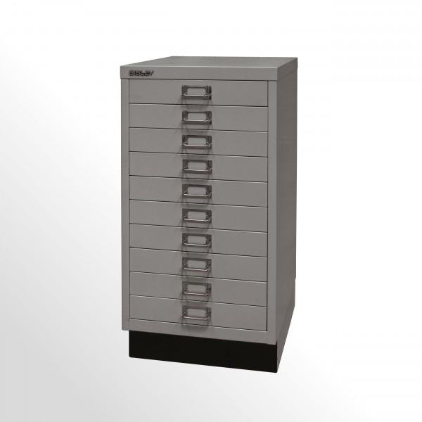 Schubladenschrank - Bisley MultiDrawer™, 29er Serie mit Sockel, DIN A3, 10 Schubladen