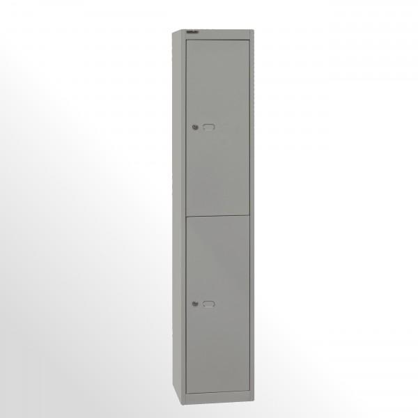 Bisley Garderobenschrank Office, 1 Abteil, 2 Fächer, T 305 mm