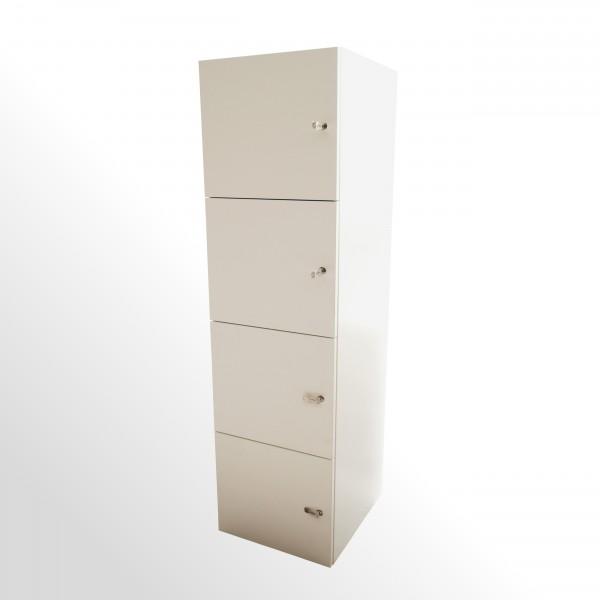 Günstiger Schließfachschrank - Wertfachschrank - weiß - B 450 mm