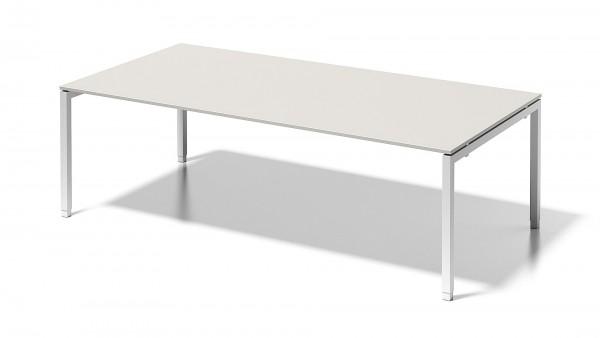 Cito Chefarbeitsplatz/Konferenztisch, 650-850 mm höheneinstellbares U-Gestell, 2400 x 1200