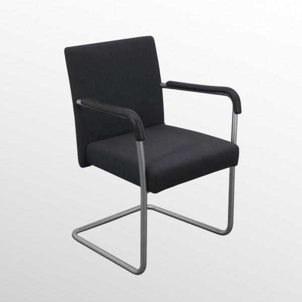 Gebrauchter Besucherstuhl von Walter Knoll - Stoff grau