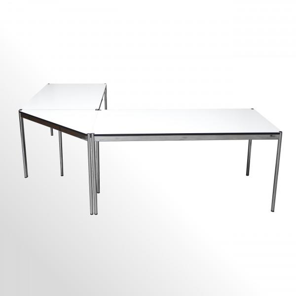 USM Haller Winkelkombination - Eckschreibtisch - Chefarbeitsplatz - Weiß
