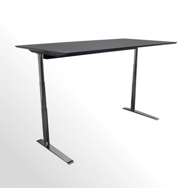 Premium-Arbeitstisch - elektrisch höhenverstellbar - Linoleum schwarz