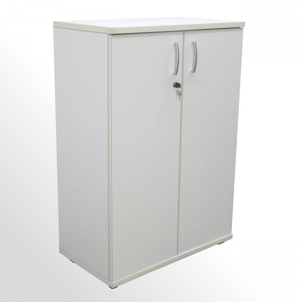 Gebrauchter Aktenschrank - Flügeltürenschrank - 3 Ordnerhöhen - weiß