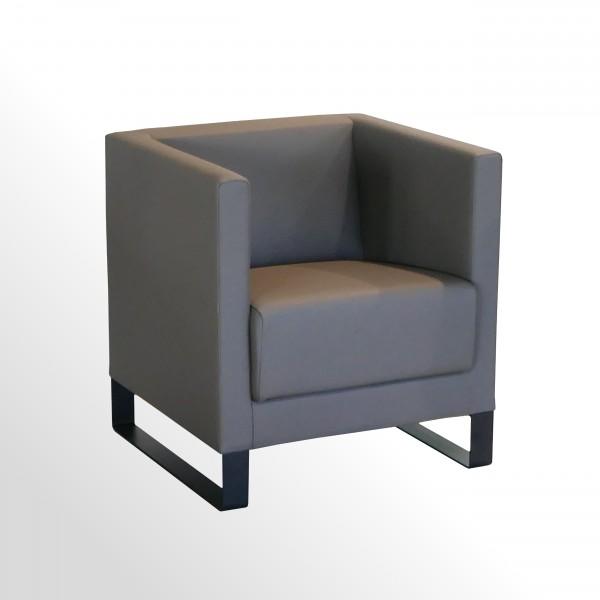 Loungesessel für den Wartebereich - Leder braun-beige +++Sonderpreis+++