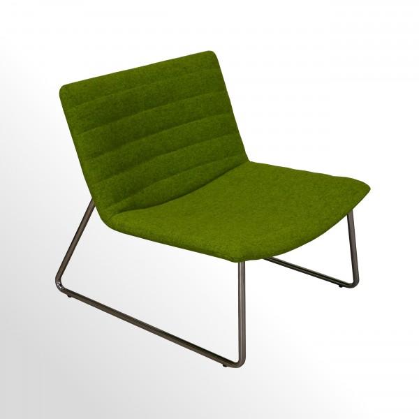 Loungesessel Wollfilz grün für den Wartebereich