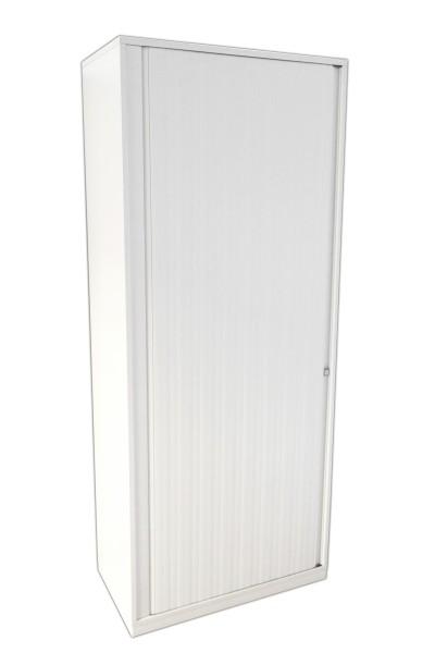 Gebrauchter Steelcase Aktenschrank - Rollladenschrank - 5 OH - Weiß
