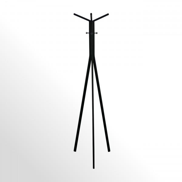 Moderner Design-Garderobenständer - Schwarz / Chrom