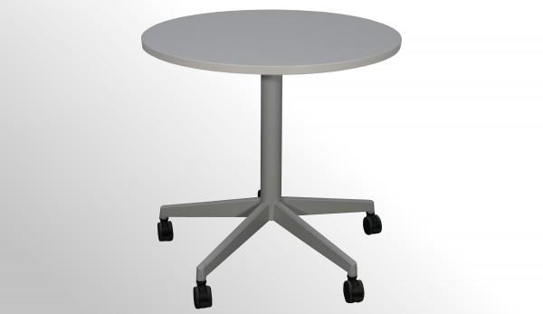 Gebrauchter Steelcase Besprechungstisch auf Rollen - Lichtgrau - Ø 900 mm