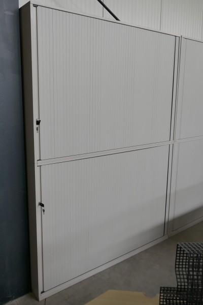 Gebrauchter Steelcase Aktenschrank - Rollladenschrank - 2-teilig - Lichtgrau