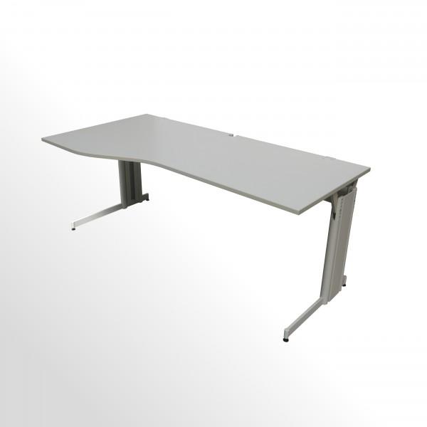 Gebrauchter Schreibtisch - Freiformtisch - 2000x1000 mm - grau - links