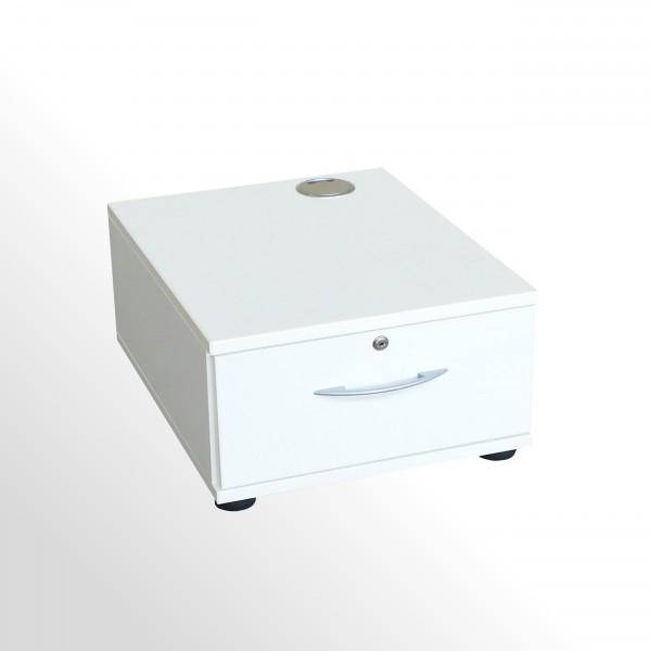 Gebrauchter König & Neurath Beistellcontainer - Druckercontainer - weiß