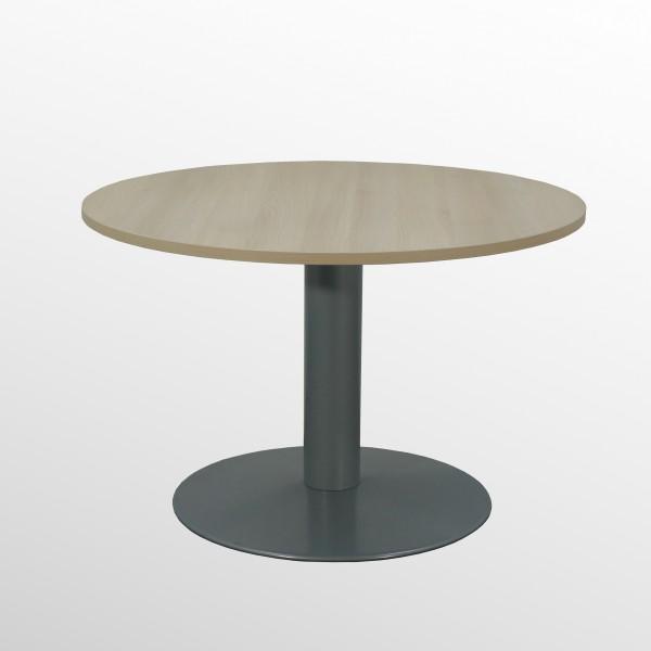 Günstiger Besprechungs- und Konferenztisch mit neuer Platte - Akazie Dekor - Ø 1000 mm