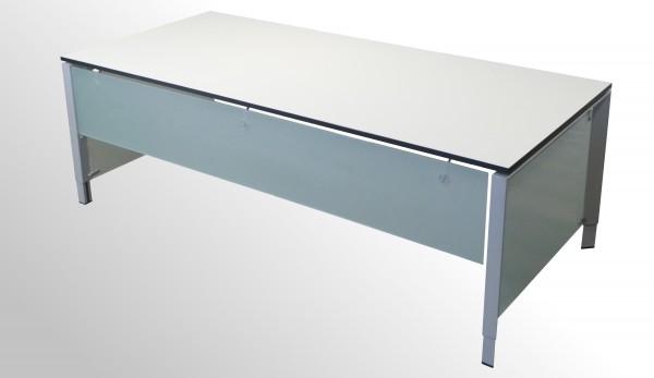 Günstiger Steelcase Schreibtisch - Chefarbeitsplatz - mit neuer Arbeitsplatte - Weiß