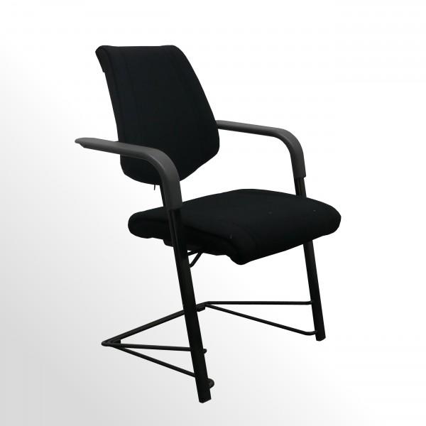 Gebrauchter HAG Besucherstuhl - Stoff schwarz