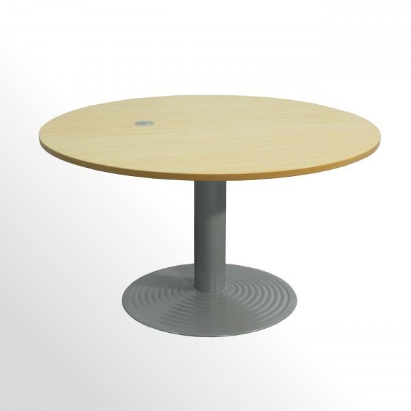 Gebrauchter Besprechungs - und Konferenztisch - rund - Ø 1200 mm - Ahorn/Aluminium