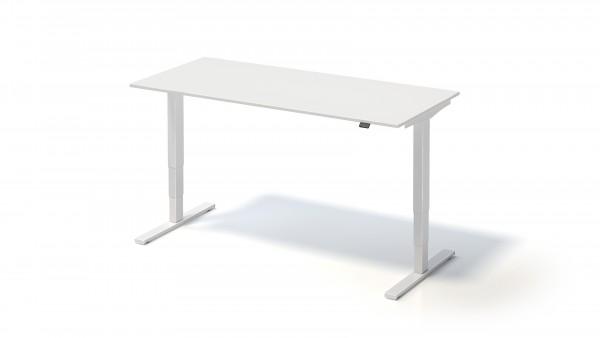 Varia Schreibtisch, 650-1250 mm elektr. höhenverstellbar, 1800 x 800 mm, weiß