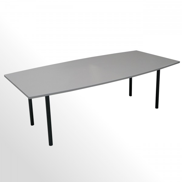 Besprechungs- und Konferenztisch - 2400x1200 mm - Cubanitgrau Smoothtouch Matt
