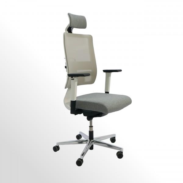 Ergonomischer Bürodrehstuhl mit Kopfstütze | Perfekt für dynamisches 3D-Sitzen