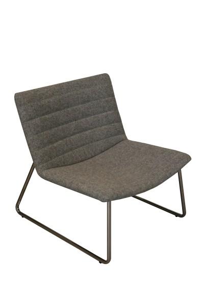 Loungesessel Wollfilz grau für den Wartebereich