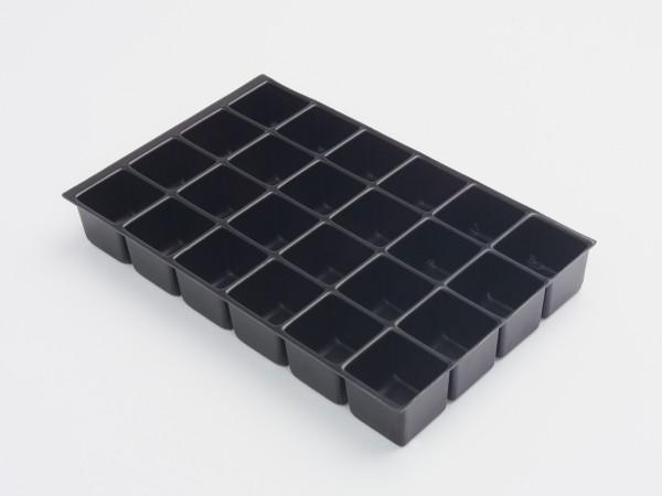 Bisley MultiDrawer™ Schubladeneinsatz A4 24 Fächer für A4 Schubladen H 102, 87, 51 mm