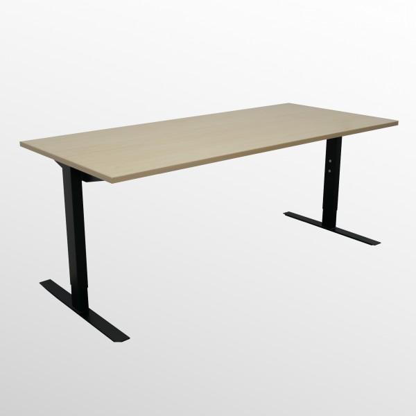 Günstiger Schreibtisch mit neuem Gestell und Ahorn Platte - 1800x800 mm