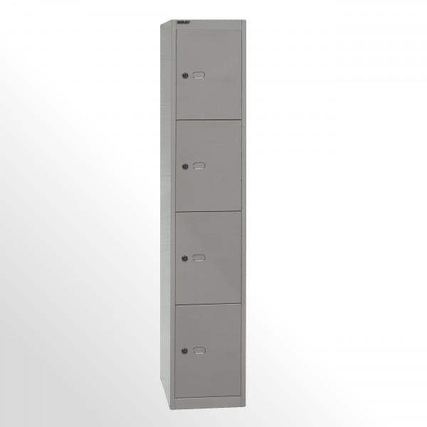 Bisley Schließfachschrank Office, 1 Abteil, 6 Fächer, T 457 mm