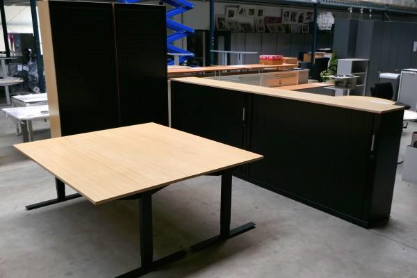 Günstiges, gebrauchtes Werndl-Doppelarbeitsplatz-Set / Arbeitszimmer **SETPREIS**
