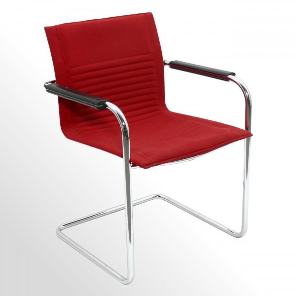 Gebrauchter ArtCollection Premium Besucher- und Konferenzstuhl - Stoff rot