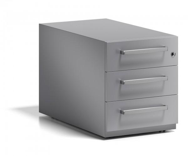 Bisley Rollcontainer Note™ mit Griff, 3 Universalschubladen; T 775 mm