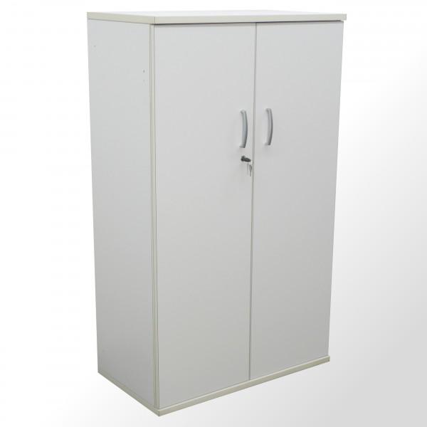 Gebrauchter Aktenschrank - Flügeltürenschrank - 4 Ordnerhöhen - weiß