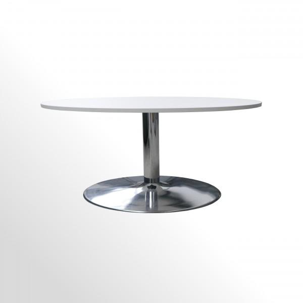 Günstiger Besprechungs- und Konferenztisch mit neuer Platte - Ø 1000 mm