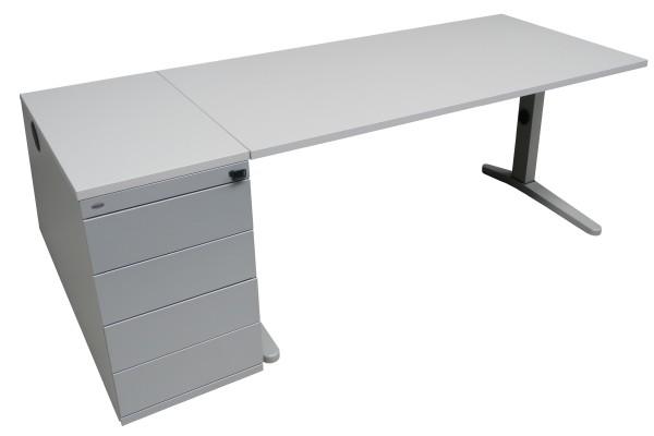 Günstiges Schreibtisch-Standcontainer-Set - grau - mit neuen Platten!