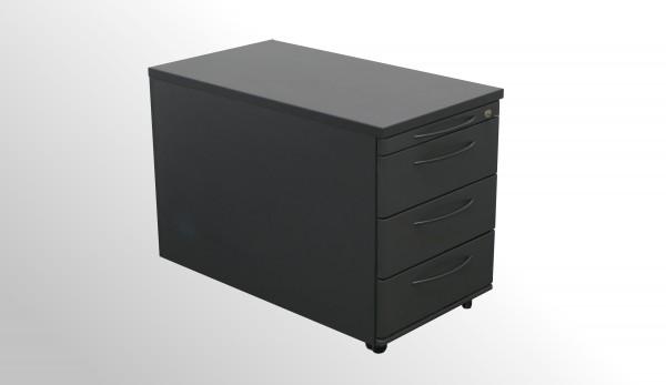 Gebrauchter König + Neurath Rollcontainer - Anthrazit mit 3x Schublade