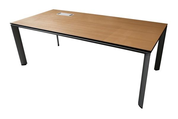 Günstiger, gebrauchter Bene Schreibtisch - Eiche Dekor