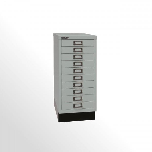 Schubladenschrank - Bisley MultiDrawer™, 29er Serie mit Sockel, DIN A4, 10 Schubladen