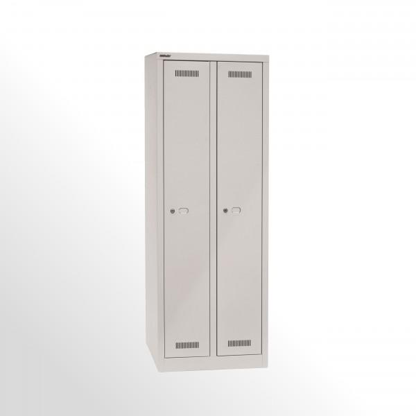 Bisley MonoBloc™ Garderobenschrank, 2 Abteile, je 1 Fach, Farbe lichtgrau