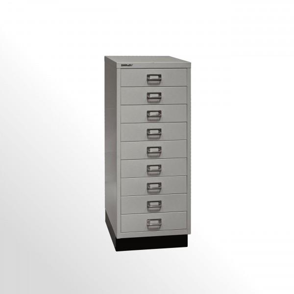 Schubladenschrank - Bisley MultiDrawer™, 39er Serie mit Sockel, DIN A3, 9 Schubladen