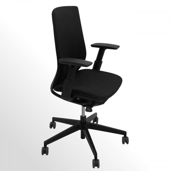 ***Black-Edition*** Bürodrehstuhl mit Armlehnen und Netzrücken - Flexibler Sitz und Rückenlehne
