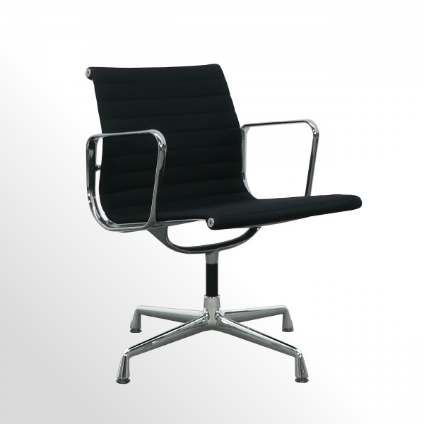 Vitra Besucherstuhl Aluminium Group Chair | EA104 Hopsak nero (schwarz)