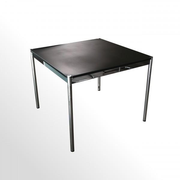 USM Haller Schreibtisch - Besprechungstisch - Linoleum schwarz
