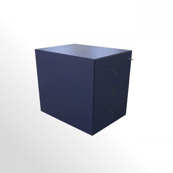Gebrauchter Fantoni Design-Rollcontainer - blau