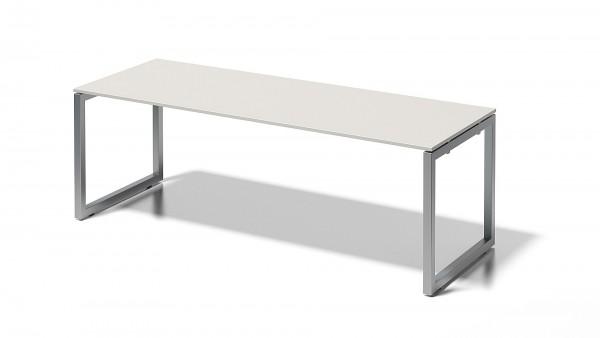 Bisley Cito Schreibtisch, 740 mm höhenfixes O-Gestell, B 2200 x T 800 mm