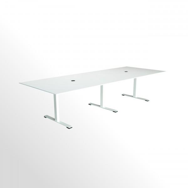 Besprechungs- und Konferenztisch - 3200x1200 mm - weiß/weiß