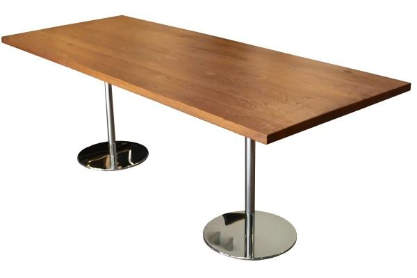 Günstiger Massivholz Besprechungs- und Konferenztisch - Echtholz gebeizt