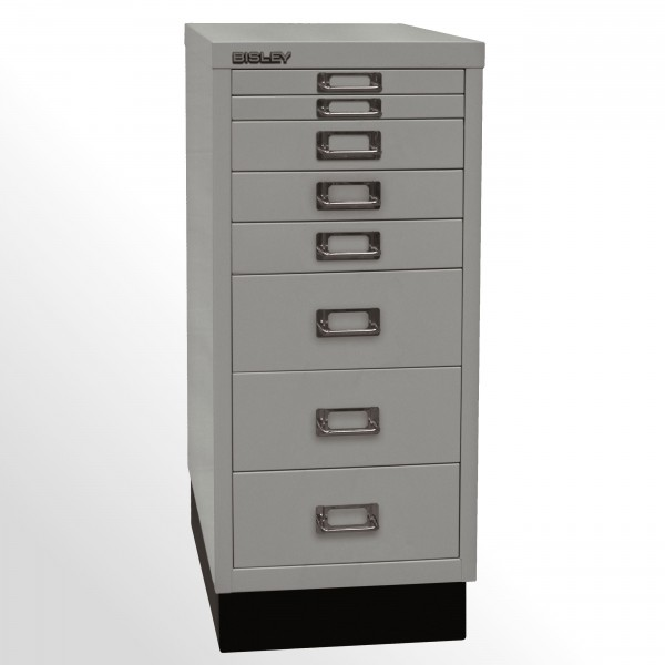 Schubladenschrank - Bisley MultiDrawer™, 29er Serie mit Sockel, DIN A4, 8 Schubladen