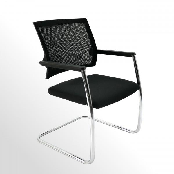 Gebrauchter Klöber Duera Besucher- u. Konferenzstuhl mit neu bezogenem Sitzpolster