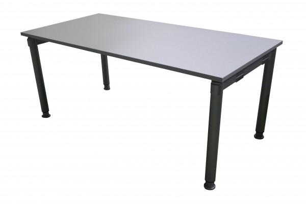 Gebrauchter Palmberg SYSTO:TEC Schreibtisch - Grau/Aluminiumfarben