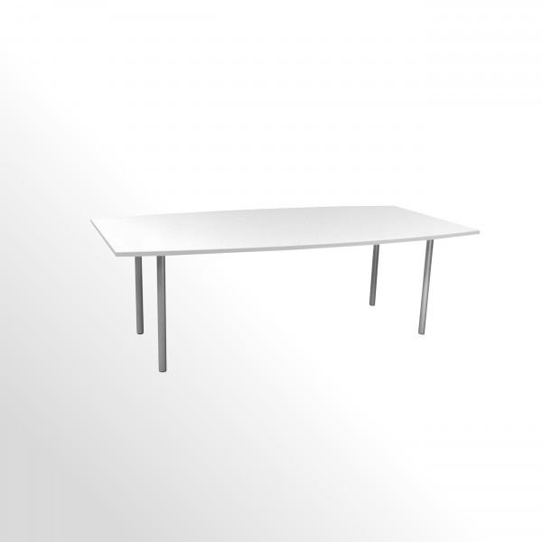 Gebrauchter, günstiger Besprechungs- und Konferenztisch - weiß - 2400x1200 mm