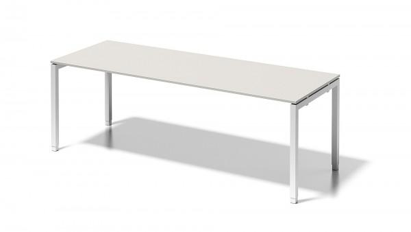 Bisley Cito Schreibtisch, 650-850 mm höheneinstellbares U-Gestell, B 2200 x T 800 mm